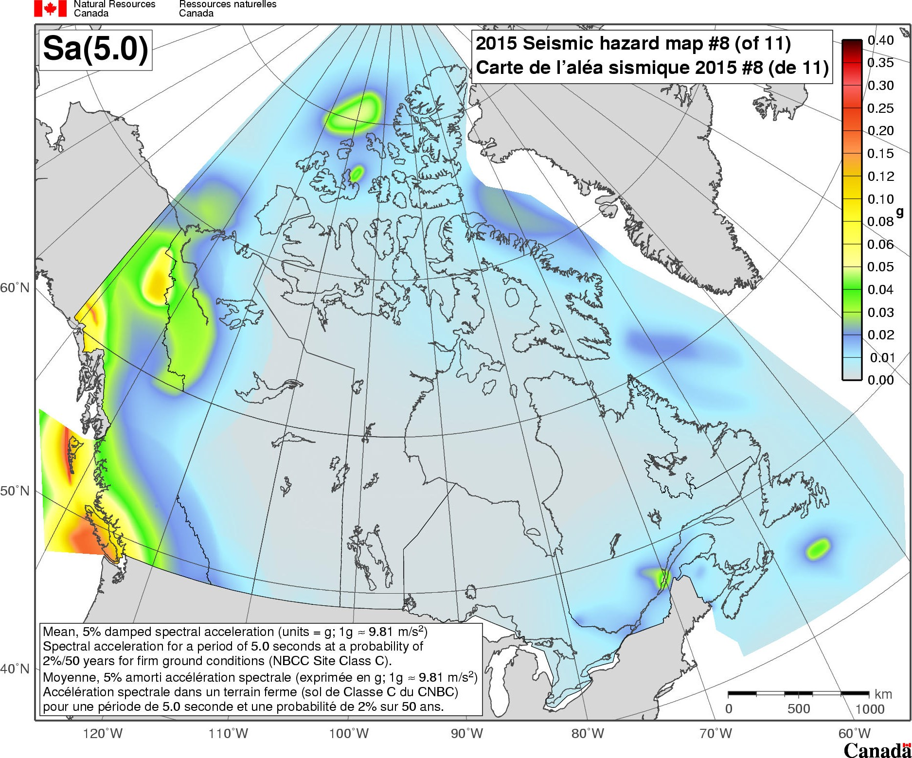 Map Of Canada Pdf.2015 National Building Code Of Canada Seismic Hazard Maps