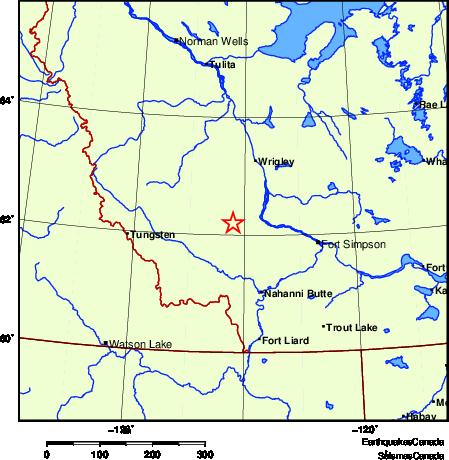 Map of Earthquake Localities