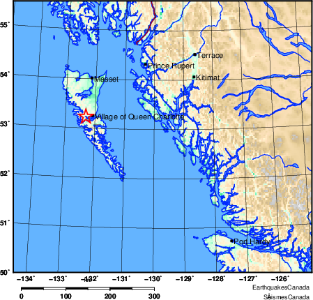 Map of Earthquake Area