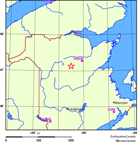 Map of Regional Seismographs